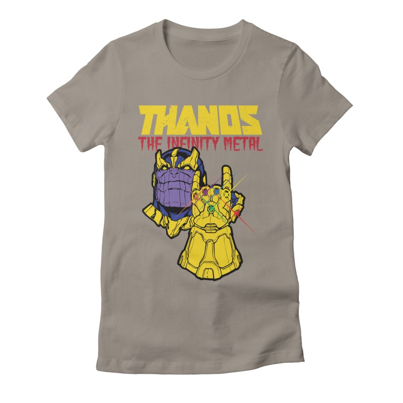 THANOS METAL Women's Fitted T-Shirt by ALGS's Artist Shop
