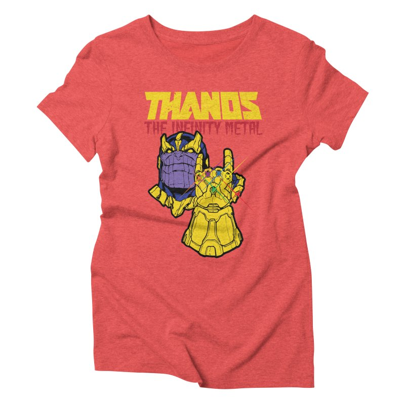 THANOS METAL Women's Triblend T-Shirt by ALGS's Artist Shop