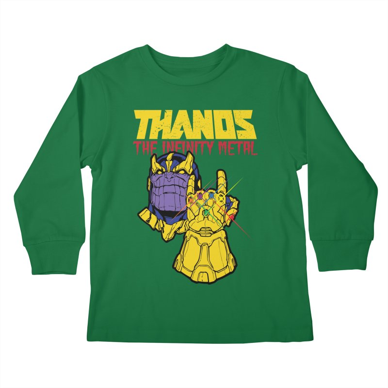 THANOS METAL Kids Longsleeve T-Shirt by ALGS's Artist Shop