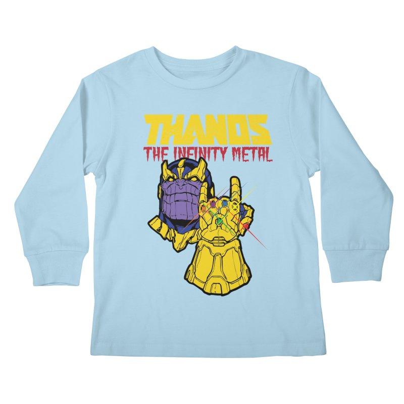THANOS METAL Kids Longsleeve T-Shirt by ALGS's Artist Shop
