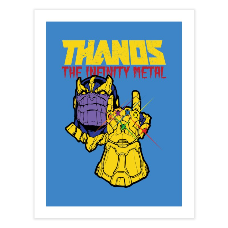 THANOS METAL Home Fine Art Print by ALGS's Artist Shop