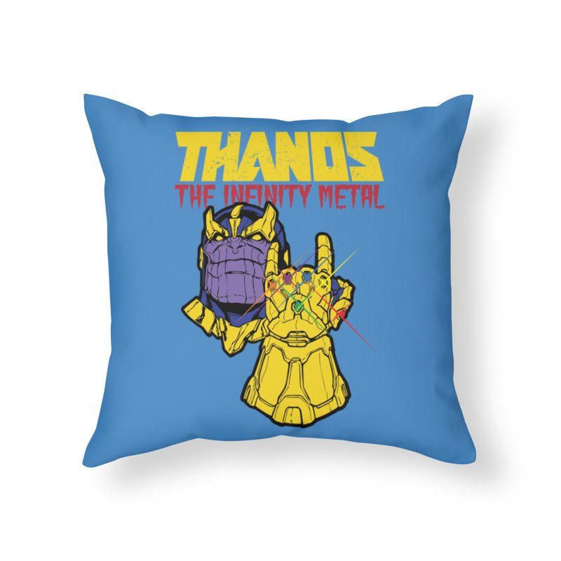 THANOS METAL Home Throw Pillow by ALGS's Artist Shop