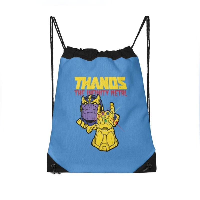 THANOS METAL Accessories Drawstring Bag Bag by ALGS's Artist Shop