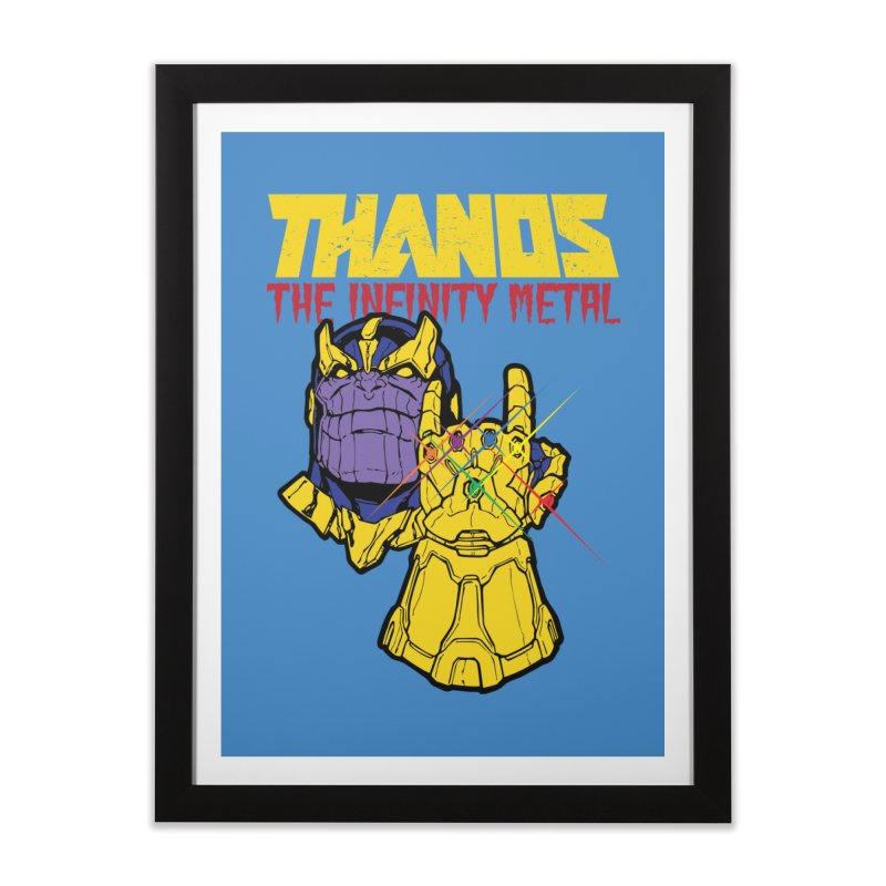 THANOS METAL Home Framed Fine Art Print by ALGS's Artist Shop