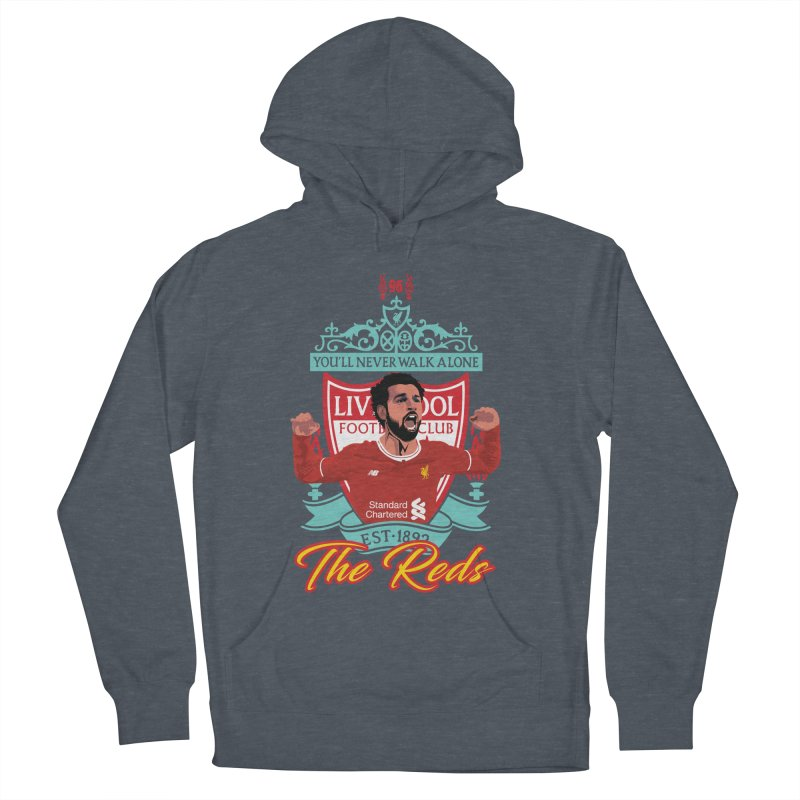 MO. SALAH LIVERPOOL FC Men's French Terry Pullover Hoody by ALGS's Artist Shop