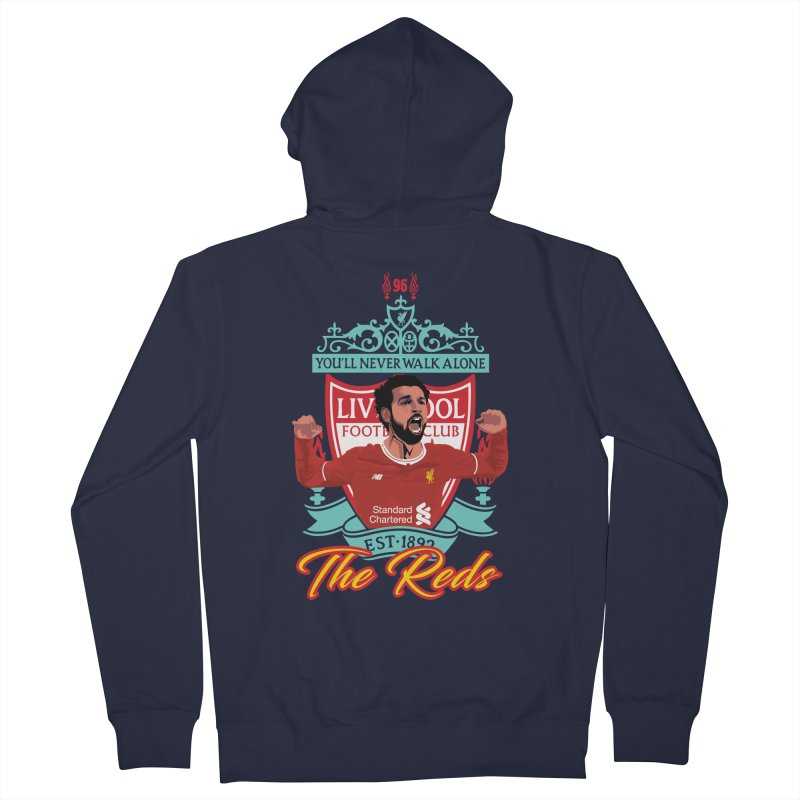 MO. SALAH LIVERPOOL FC Women's French Terry Zip-Up Hoody by ALGS's Artist Shop