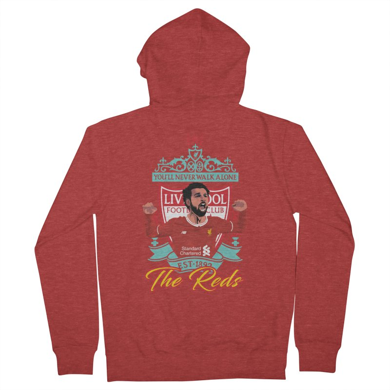 MO. SALAH LIVERPOOL FC Men's French Terry Zip-Up Hoody by ALGS's Artist Shop