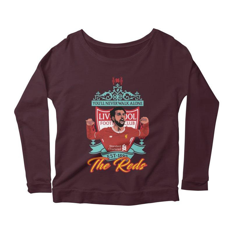 MO. SALAH LIVERPOOL FC Women's Scoop Neck Longsleeve T-Shirt by ALGS's Artist Shop