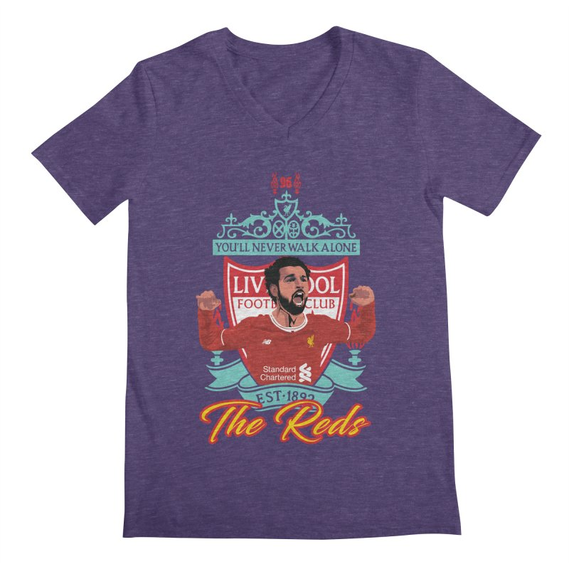 MO. SALAH LIVERPOOL FC Men's V-Neck by ALGS's Artist Shop