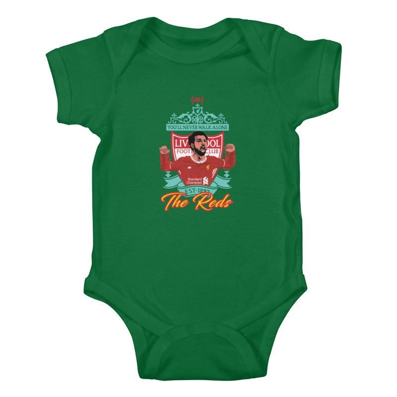 MO. SALAH LIVERPOOL FC Kids Baby Bodysuit by ALGS's Artist Shop