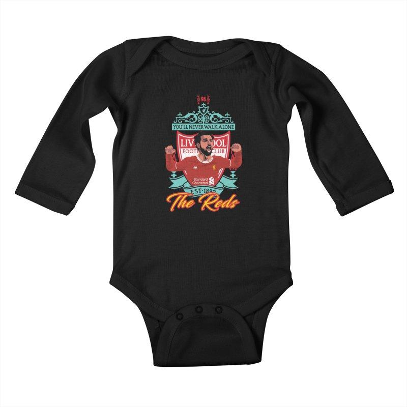 MO. SALAH LIVERPOOL FC Kids Baby Longsleeve Bodysuit by ALGS's Artist Shop