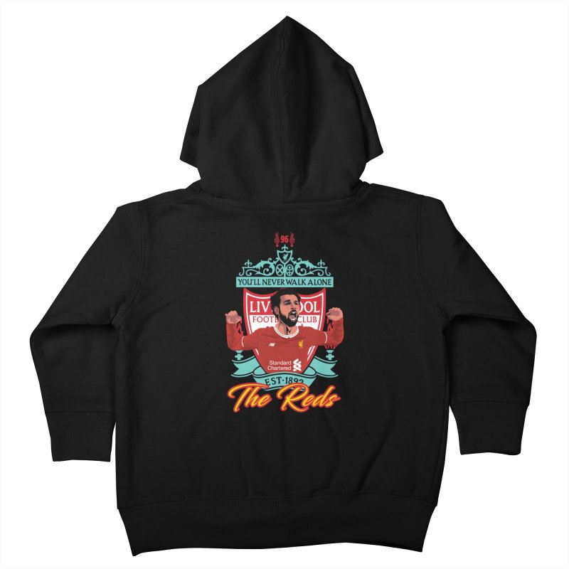 MO. SALAH LIVERPOOL FC Kids Toddler Zip-Up Hoody by ALGS's Artist Shop