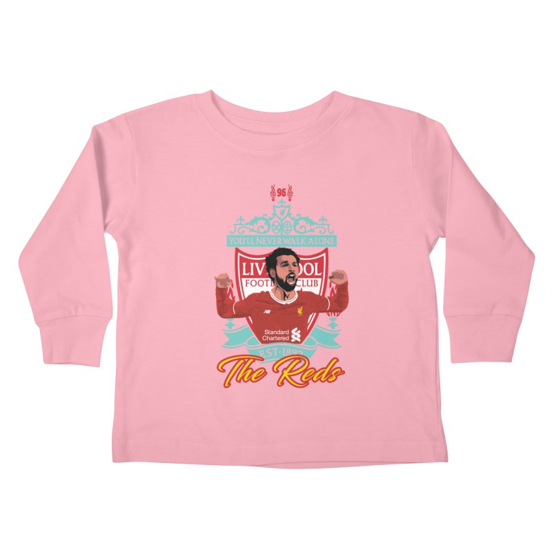 MO. SALAH LIVERPOOL FC Kids Toddler Longsleeve T-Shirt by ALGS's Artist Shop