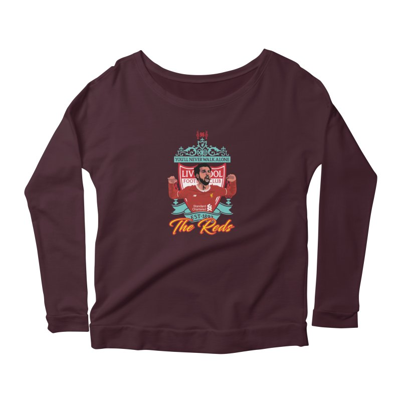 MO. SALAH LIVERPOOL FC Women's Scoop Neck Longsleeve T-Shirt by ALGS's Artist Shop