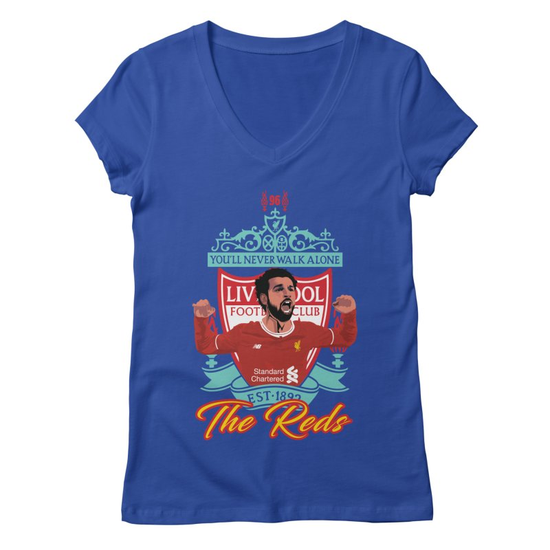MO. SALAH LIVERPOOL FC Women's V-Neck by ALGS's Artist Shop