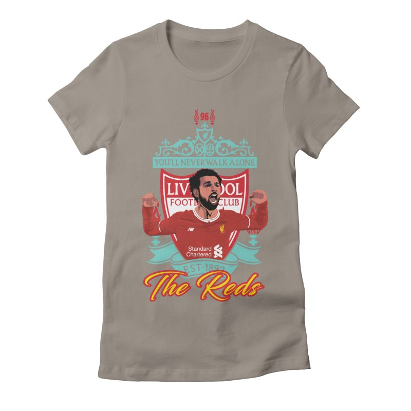 MO. SALAH LIVERPOOL FC Women's Fitted T-Shirt by ALGS's Artist Shop
