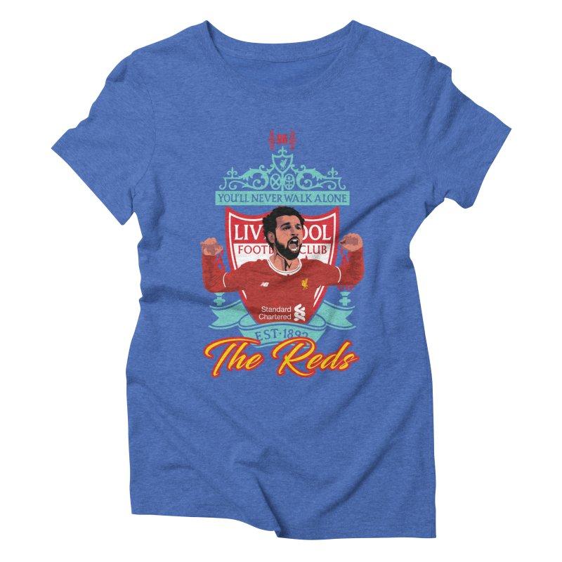 MO. SALAH LIVERPOOL FC Women's Triblend T-Shirt by ALGS's Artist Shop