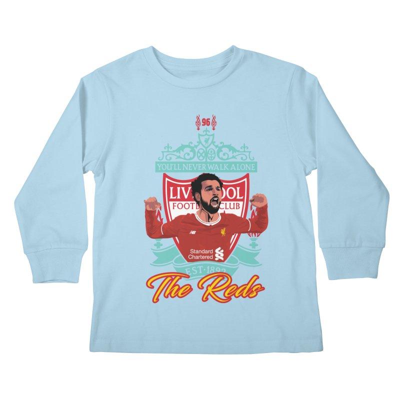 MO. SALAH LIVERPOOL FC Kids Longsleeve T-Shirt by ALGS's Artist Shop