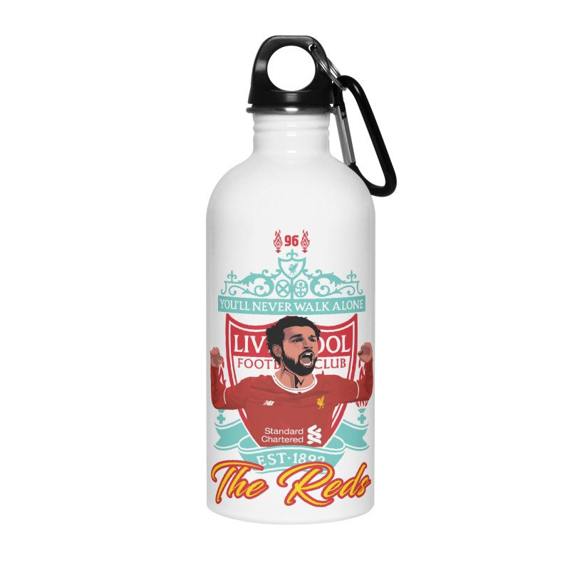 MO. SALAH LIVERPOOL FC Accessories Water Bottle by ALGS's Artist Shop