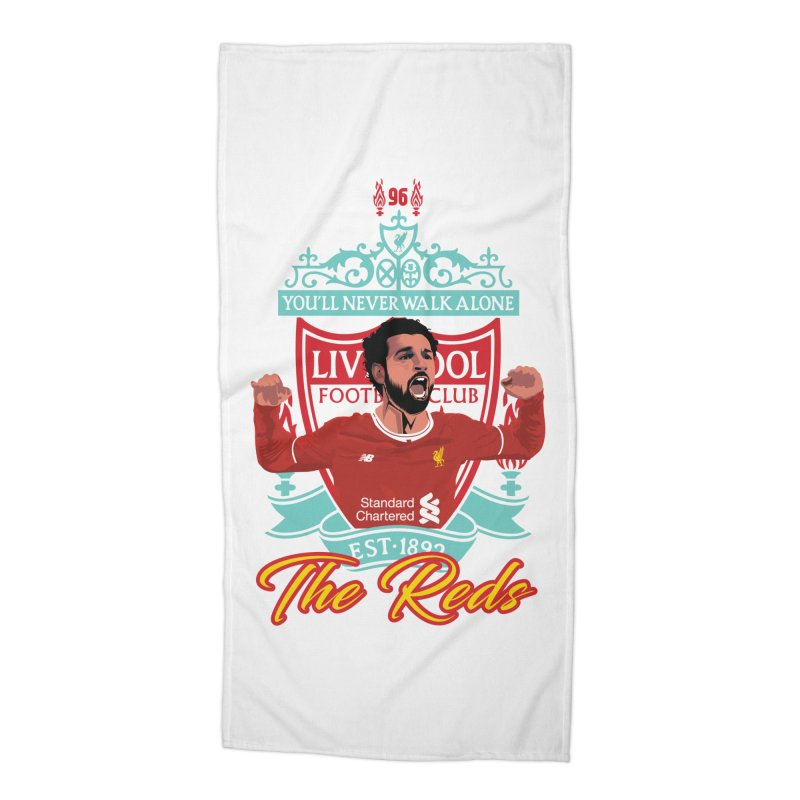 MO. SALAH LIVERPOOL FC Accessories Beach Towel by ALGS's Artist Shop