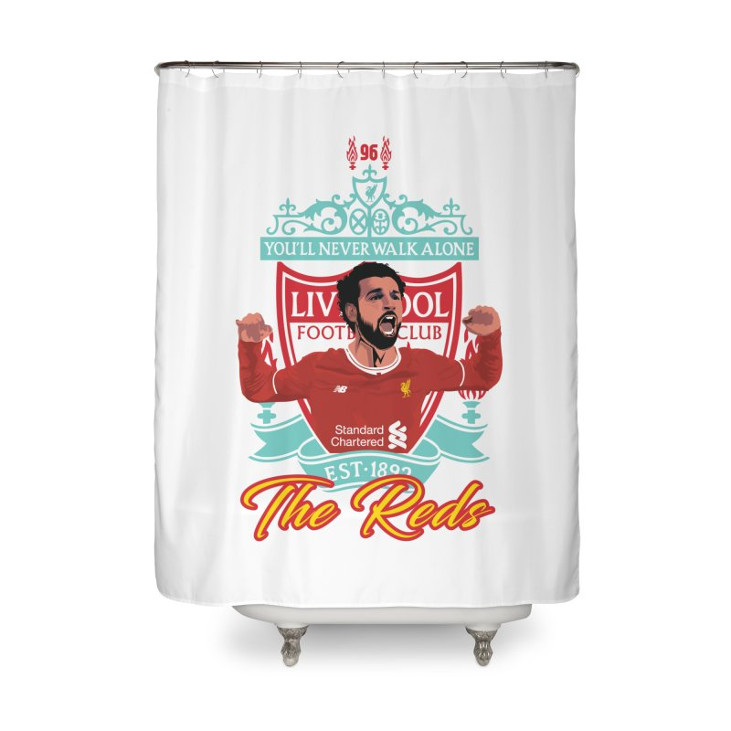 MO. SALAH LIVERPOOL FC Home Shower Curtain by ALGS's Artist Shop