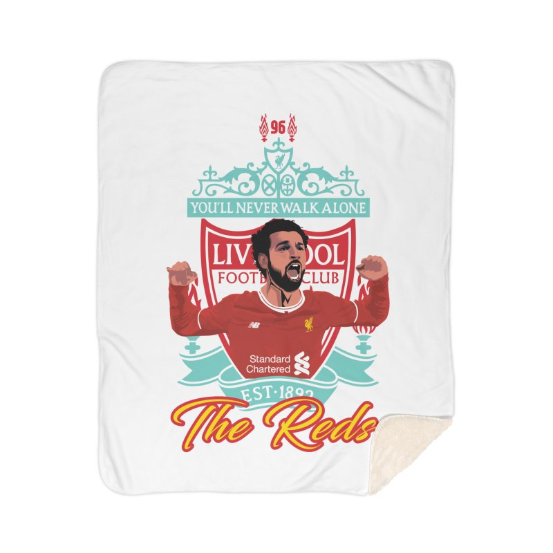 MO. SALAH LIVERPOOL FC Home Sherpa Blanket Blanket by ALGS's Artist Shop