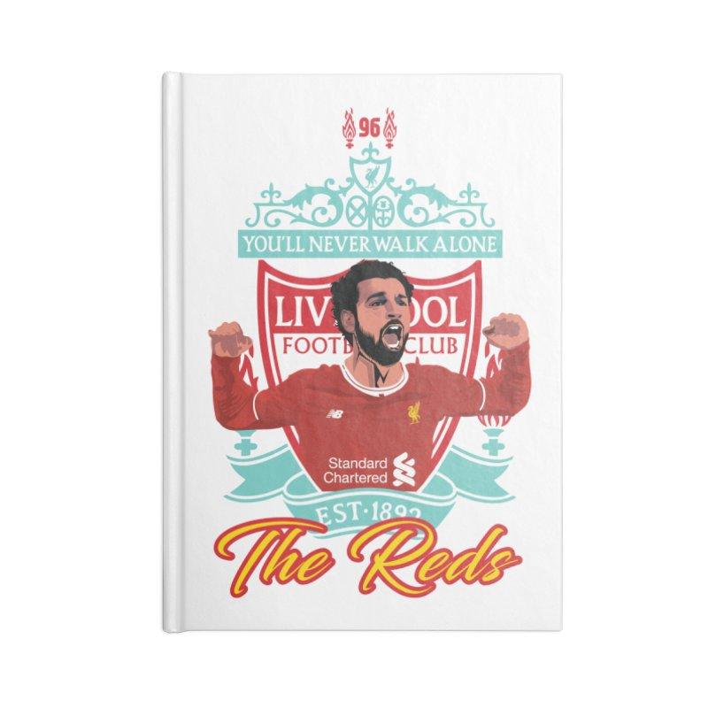 MO. SALAH LIVERPOOL FC Accessories Blank Journal Notebook by ALGS's Artist Shop