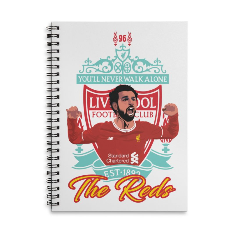 MO. SALAH LIVERPOOL FC Accessories Lined Spiral Notebook by ALGS's Artist Shop
