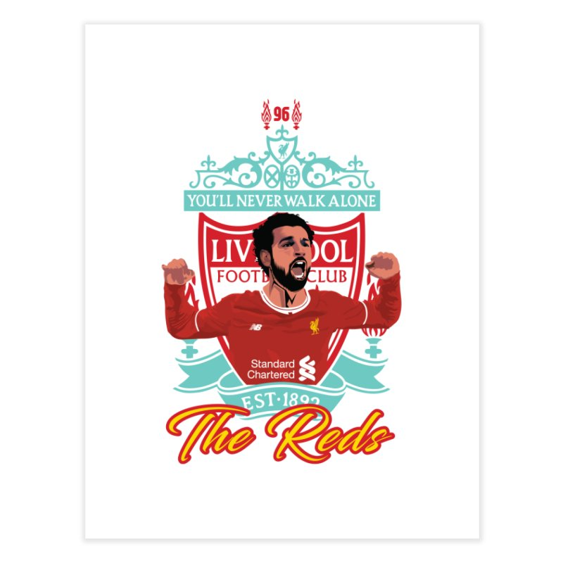 MO. SALAH LIVERPOOL FC Home Fine Art Print by ALGS's Artist Shop