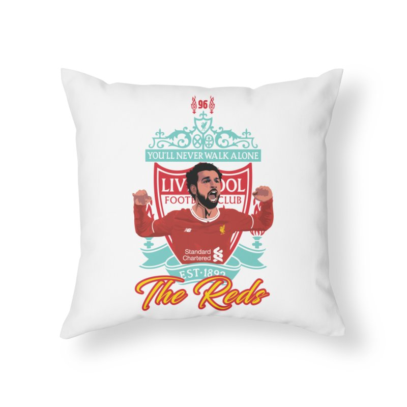 MO. SALAH LIVERPOOL FC Home Throw Pillow by ALGS's Artist Shop