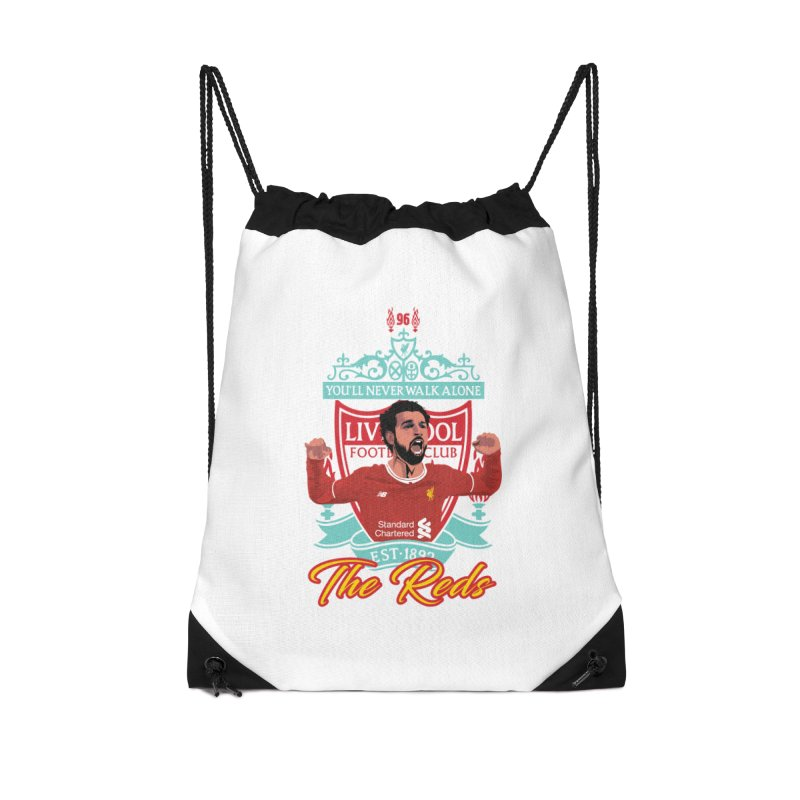 MO. SALAH LIVERPOOL FC Accessories Drawstring Bag Bag by ALGS's Artist Shop