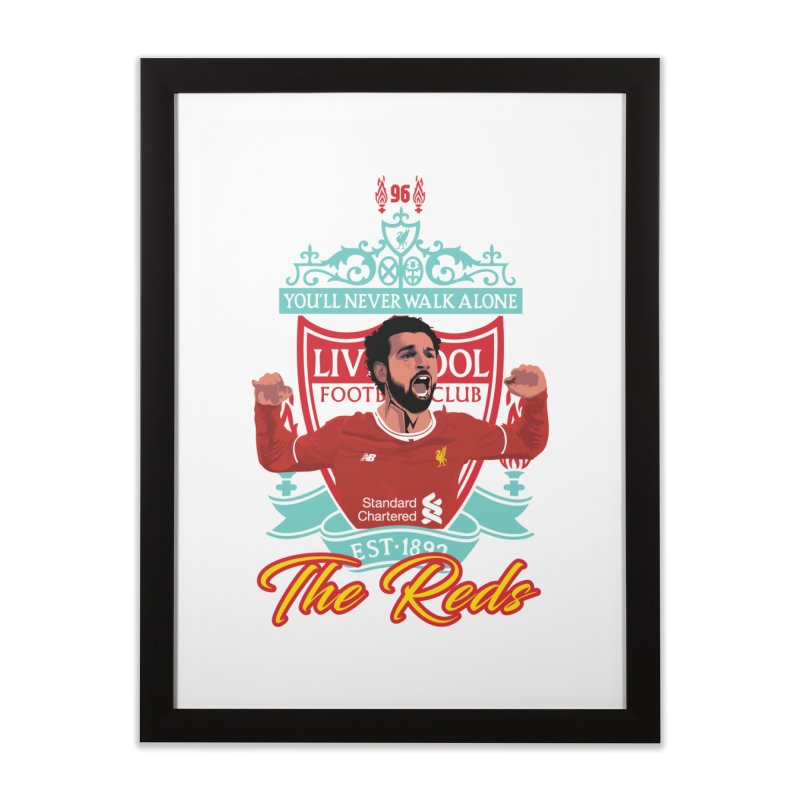 MO. SALAH LIVERPOOL FC Home Framed Fine Art Print by ALGS's Artist Shop