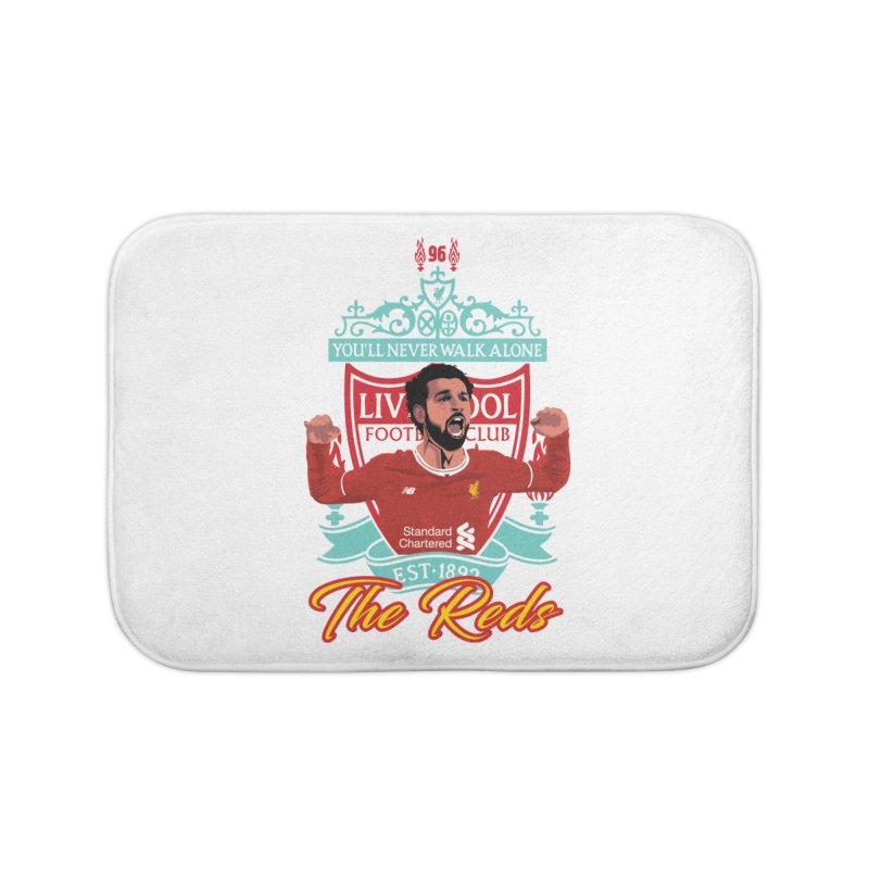 MO. SALAH LIVERPOOL FC Home Bath Mat by ALGS's Artist Shop