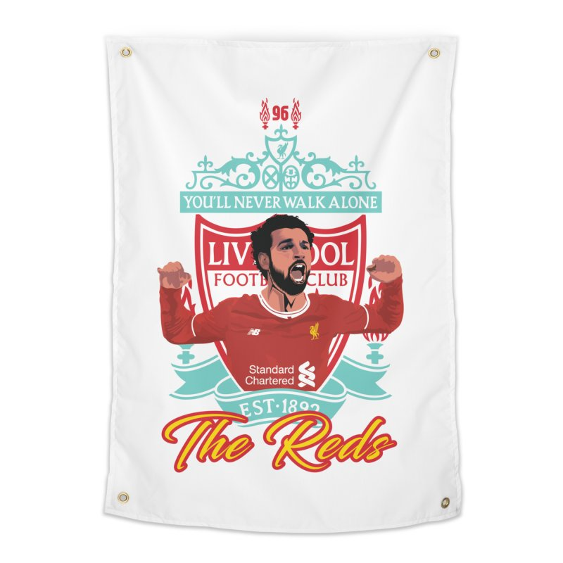 MO. SALAH LIVERPOOL FC Home Tapestry by ALGS's Artist Shop