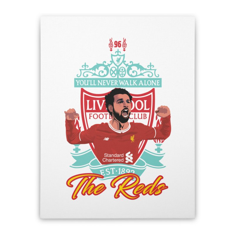 MO. SALAH LIVERPOOL FC Home Stretched Canvas by ALGS's Artist Shop