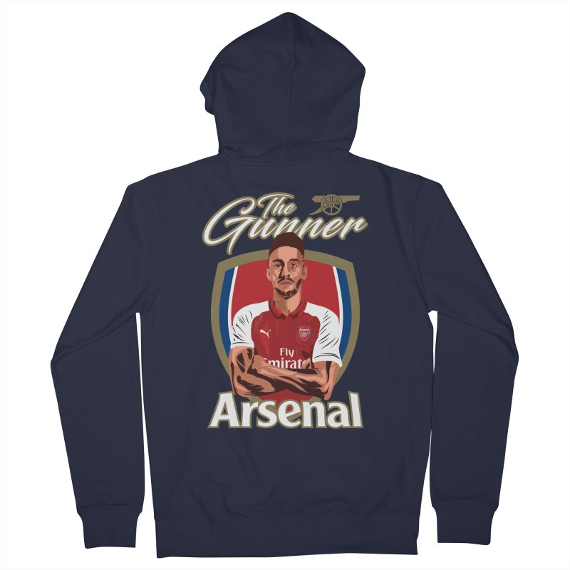 AUBAMEYANG ARSENAL Men's French Terry Zip-Up Hoody by ALGS's Artist Shop