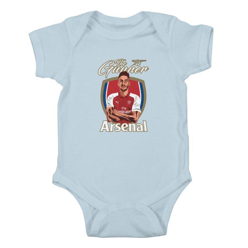 AUBAMEYANG ARSENAL Kids Baby Bodysuit by ALGS's Artist Shop