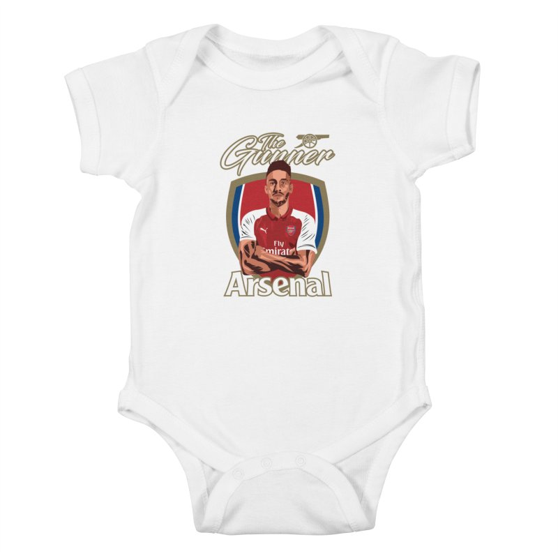 AUBAMEYANG ARSENAL Kids Baby Bodysuit by ALGS's Artist Shop