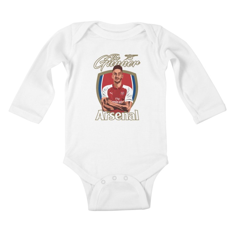 AUBAMEYANG ARSENAL Kids Baby Longsleeve Bodysuit by ALGS's Artist Shop