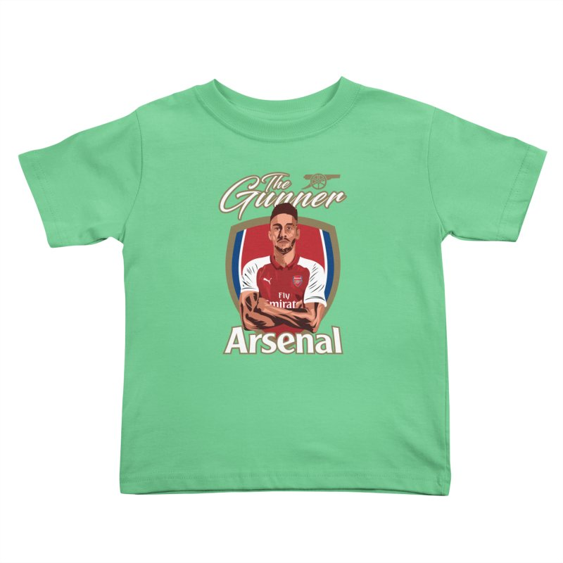 AUBAMEYANG ARSENAL Kids Toddler T-Shirt by ALGS's Artist Shop