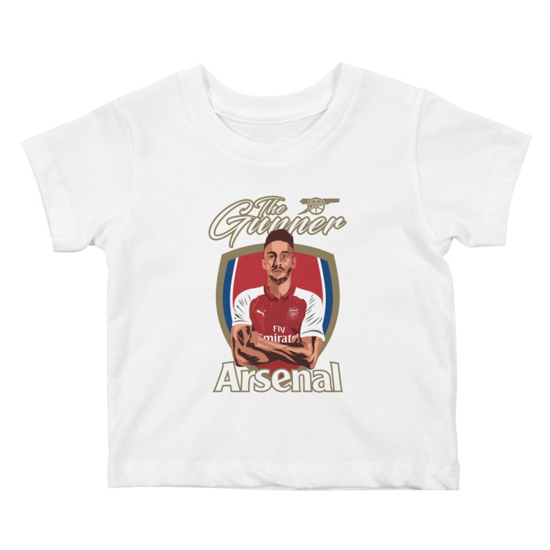 AUBAMEYANG ARSENAL Kids Baby T-Shirt by ALGS's Artist Shop