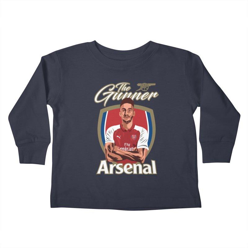 AUBAMEYANG ARSENAL Kids Toddler Longsleeve T-Shirt by ALGS's Artist Shop