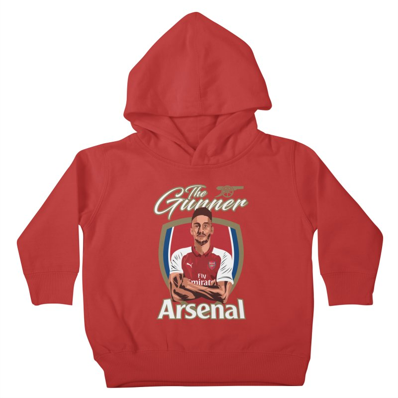 AUBAMEYANG ARSENAL Kids Toddler Pullover Hoody by ALGS's Artist Shop
