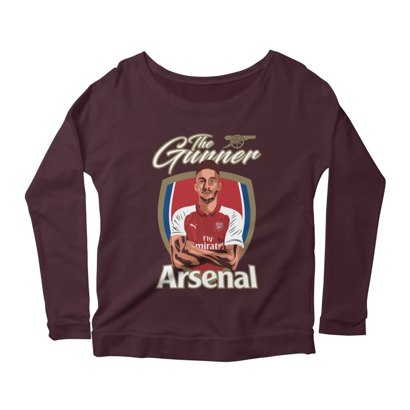 AUBAMEYANG ARSENAL Women's Scoop Neck Longsleeve T-Shirt by ALGS's Artist Shop