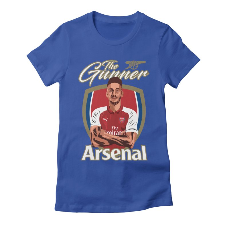 AUBAMEYANG ARSENAL Women's Fitted T-Shirt by ALGS's Artist Shop