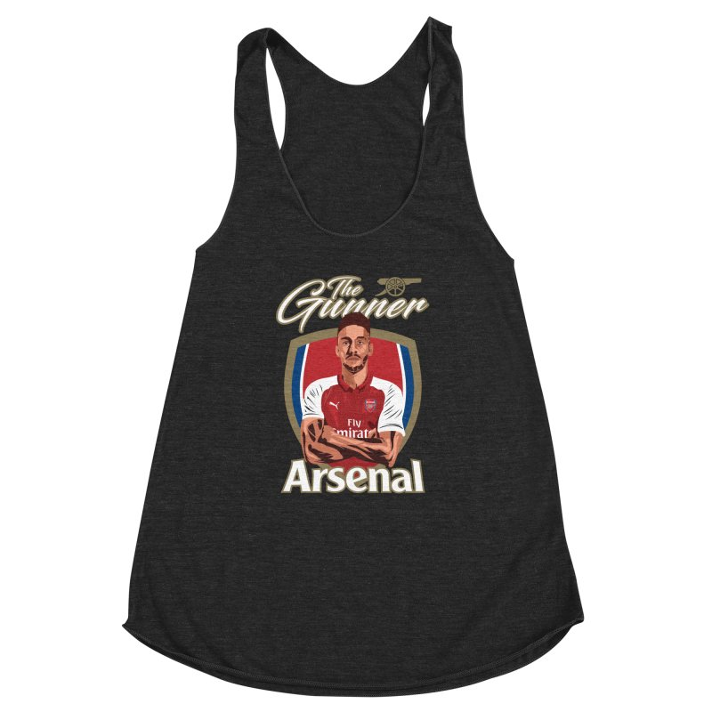 AUBAMEYANG ARSENAL Women's Racerback Triblend Tank by ALGS's Artist Shop