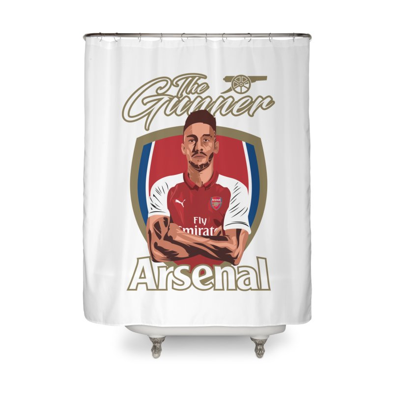 AUBAMEYANG ARSENAL Home Shower Curtain by ALGS's Artist Shop
