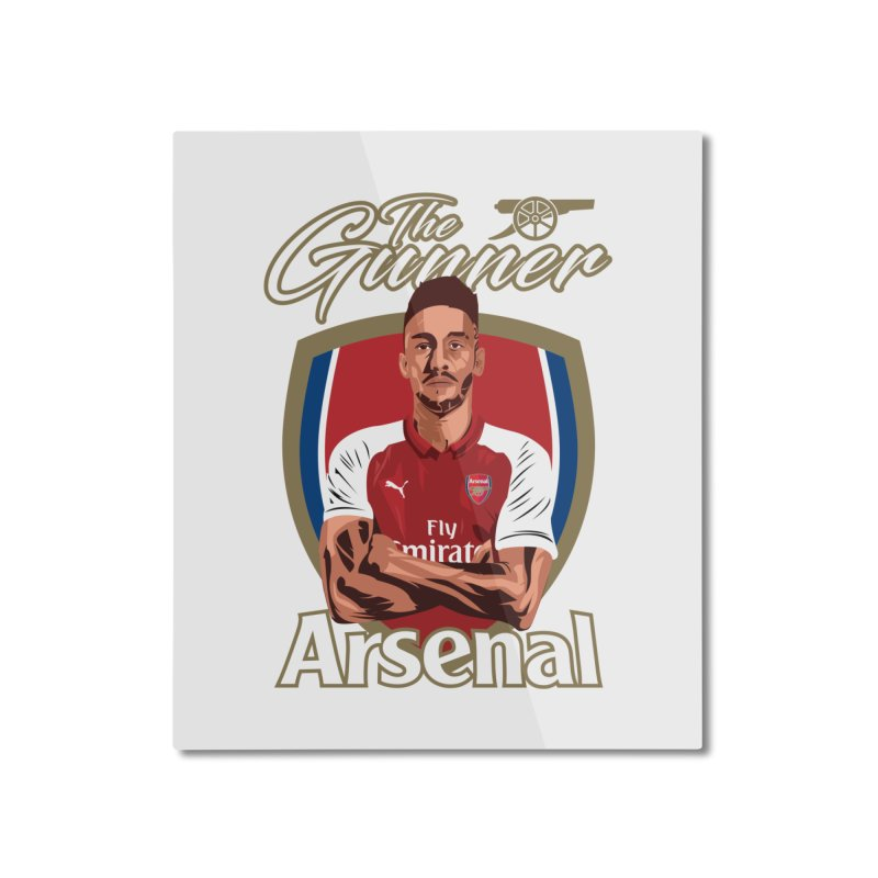 AUBAMEYANG ARSENAL Home Mounted Aluminum Print by ALGS's Artist Shop