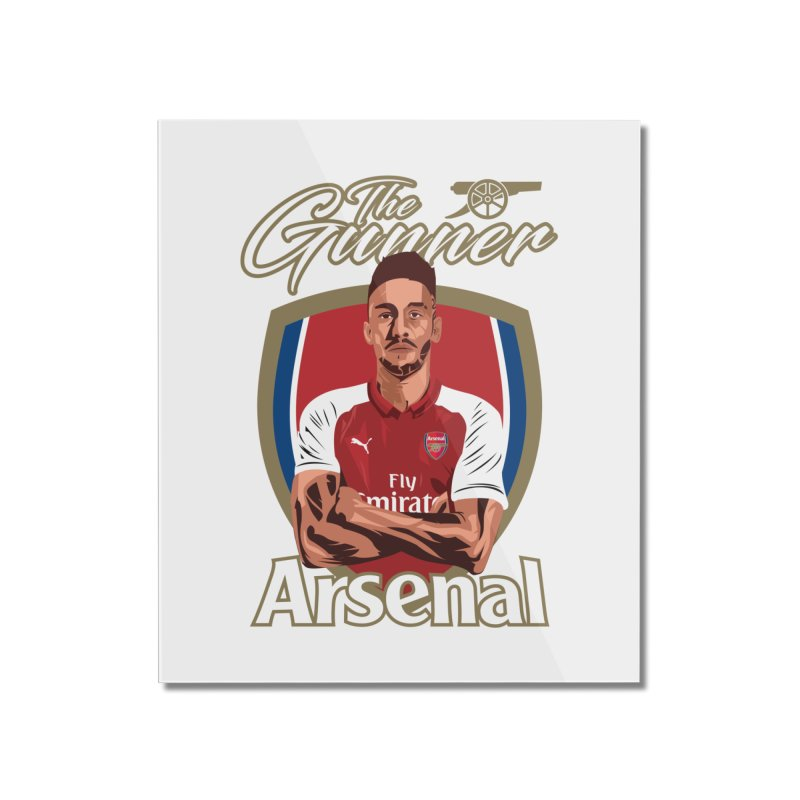 AUBAMEYANG ARSENAL Home Mounted Acrylic Print by ALGS's Artist Shop