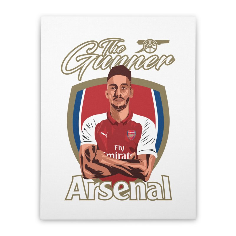 AUBAMEYANG ARSENAL Home Stretched Canvas by ALGS's Artist Shop